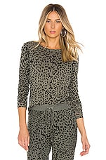 Chaser Gauzy Cotton Jersey Top in Safari