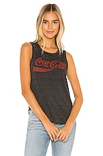 Chaser Enjoy Coca Cola Tank in Black