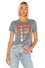 Chaser David Bowie Superstar Tee in Streaky Grey
