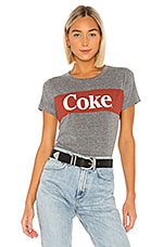 Chaser Coca-Cola Tee in Streaky Grey