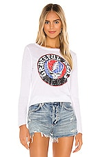 Chaser X REVOLVE Grateful Dead Steal Your Face Vintage Jersey Tee in White