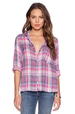 Jay Plaid Button Up in Wow Pink Wash