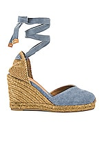 Castaner Chiara Wedge in Jeans Claro