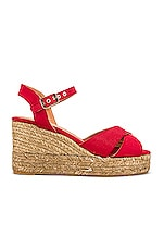 Castaner Blaudell Wedge in Rojo