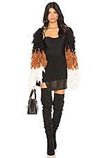 Chrissy Teigen x REVOLVE Shaggy Coat in Multi