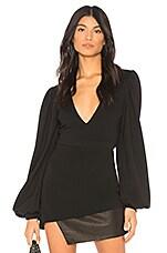 Chrissy Teigen x REVOLVE Get Low Bodysuit in Black