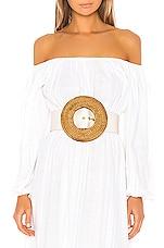 Cult Gaia Gemma Belt in White