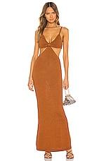 Cult Gaia Serita Dress in Amber
