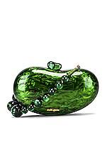 Cult Gaia Tallulah Bean Shoulder Bag in Malachite