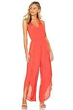 cupcakes and cashmere Camaro Jumpsuit in Hot Coral