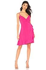 cupcakes and cashmere Catana Wrap Dress in Azalea Pink
