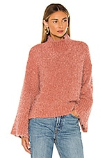 cupcakes and cashmere Danyon Mock Neck Pullover in Earthen Mauve