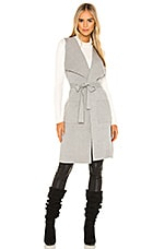 cupcakes and cashmere Carmen Drape Knit Cardigan in Light Heather Grey