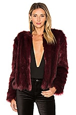 cupcakes and cashmere Snyder Faux Fur Jacket in Merlot