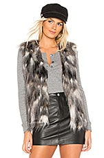 cupcakes and cashmere Frisco Faux Fur Vest in Natural