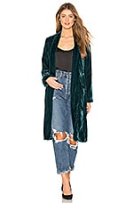 cupcakes and cashmere Albany Velvet Duster in Forrest Green