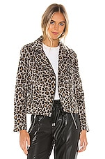 cupcakes and cashmere Margaux Leopard Moto Jacket in Heather Grey