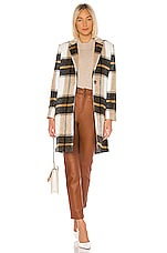 cupcakes and cashmere Cher Check Blazer Coat in Ivory