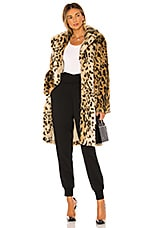 cupcakes and cashmere Jericho Faux Fur Coat in Leopard