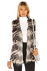 cupcakes and cashmere Vivianna Faux Fur Vest in Grey
