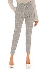cupcakes and cashmere Tallulah High Waist Houndstooth Pant in Black Houndstooth
