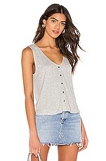 cupcakes and cashmere Serotta Tank in Light Heather Grey