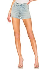 Current/Elliott The Ultra High Waist Short in Blue Wave
