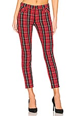 Current/Elliott The Stiletto in Red Tartan Plaid