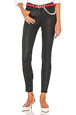 Current/Elliott The High Waist Ankle Skinny Coated in Black
