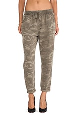 Current/Elliott The Drawstring Lounge Trouser in Army Camo