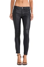 The Prospect Leather Skinny in Washed Black