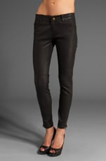Leather Legging in Washed Black