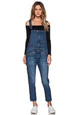 The Zip Boyfriend Overall in Loved