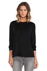 The Long Sleeve Tee in Black Beauty