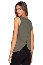 The Cross Back Muscle Tee in Army Green