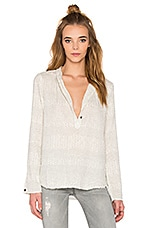 The Annabelle Blouse en Dirty White Sunview Ditsy