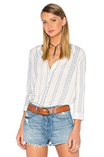 The Annabelle Blouse en Daisy Stripe