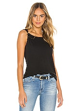 Current/Elliott Tied Up Muscle Tee in Caviar