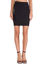 Asymmetric Paneled Skirt in Jet