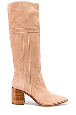 Caverley Tilly Boot in Taupe Suede