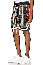 Crysp Denim Plaid Jordan Ball Shorts in Black Plaid