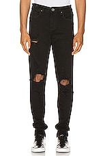 Crysp Denim Pacific Denim Jean in Black Ripped