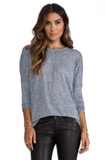 Scoop Neck Fitted Long Sleeve Tee in Yankee