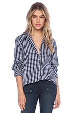 Button-Down Blouse in Plaid