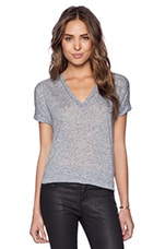 Loose Knit V Tee in Yankee