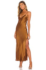DANNIJO Mossy Slip Dress in Bronze