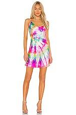 DANNIJO Mini Slip Dress in Neon Tie Dye