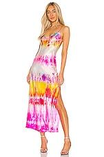 DANNIJO Strawberry Fields Slip Dress in Dipped Tie Dye