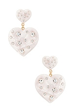 DANNIJO Amante Pearl Earrings in Pearl