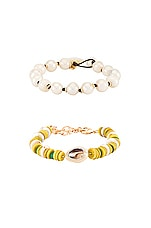 DANNIJO Tova Lyra Bracelet Set in Yellow & Pearl
